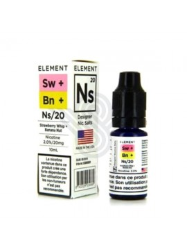STRAWBERRY WHIP/BANANA NUT NIC SALTS 10 ML 20 MG - ELEMENT